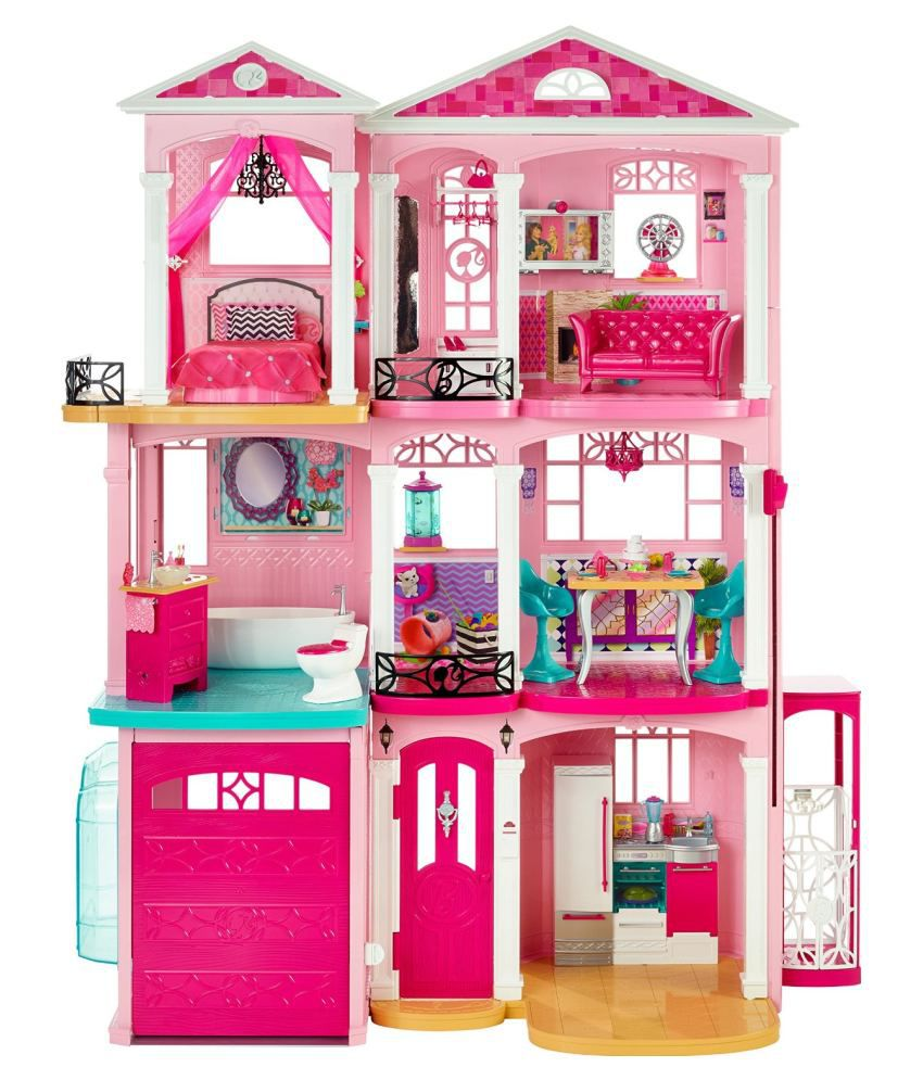 Barbie Pink Plastic Doll House Buy Barbie Pink Plastic Doll House