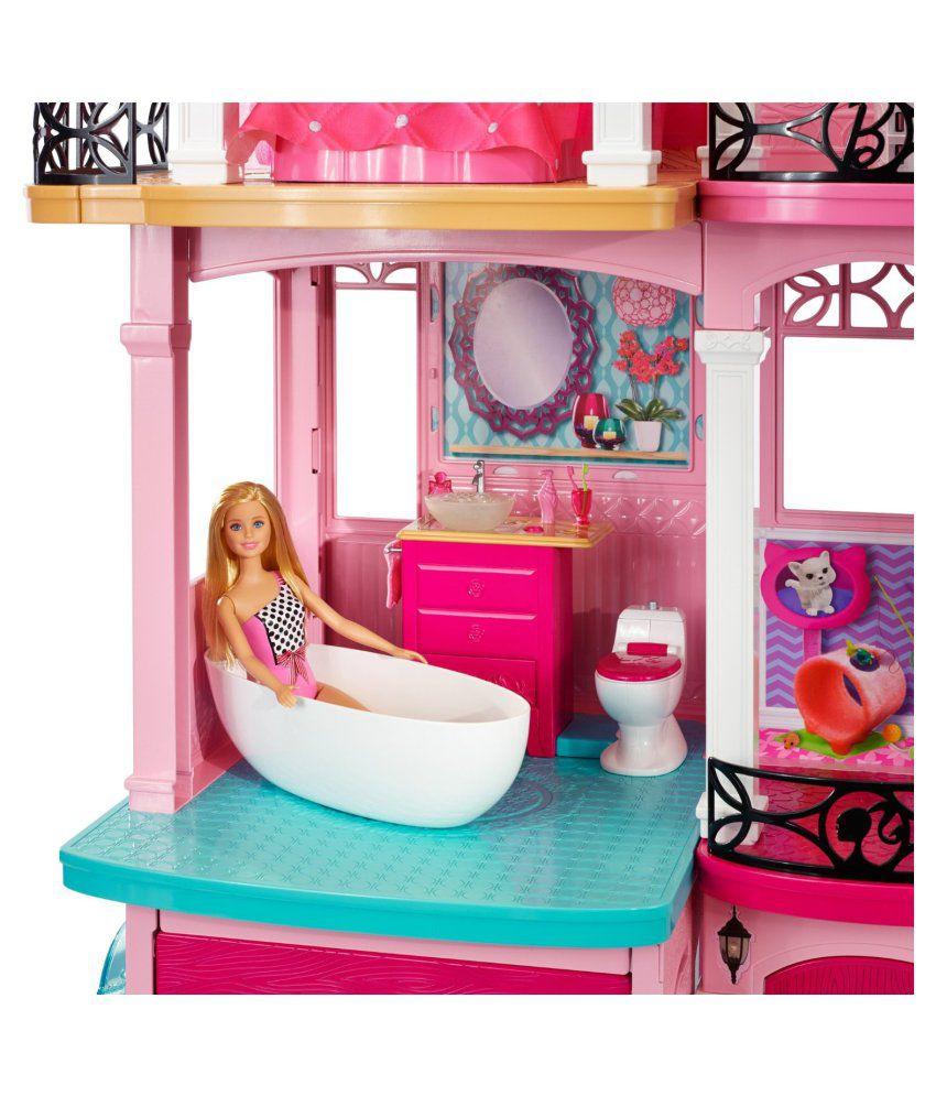 Barbie Pink Plastic Doll House Buy Barbie Pink Plastic Doll House