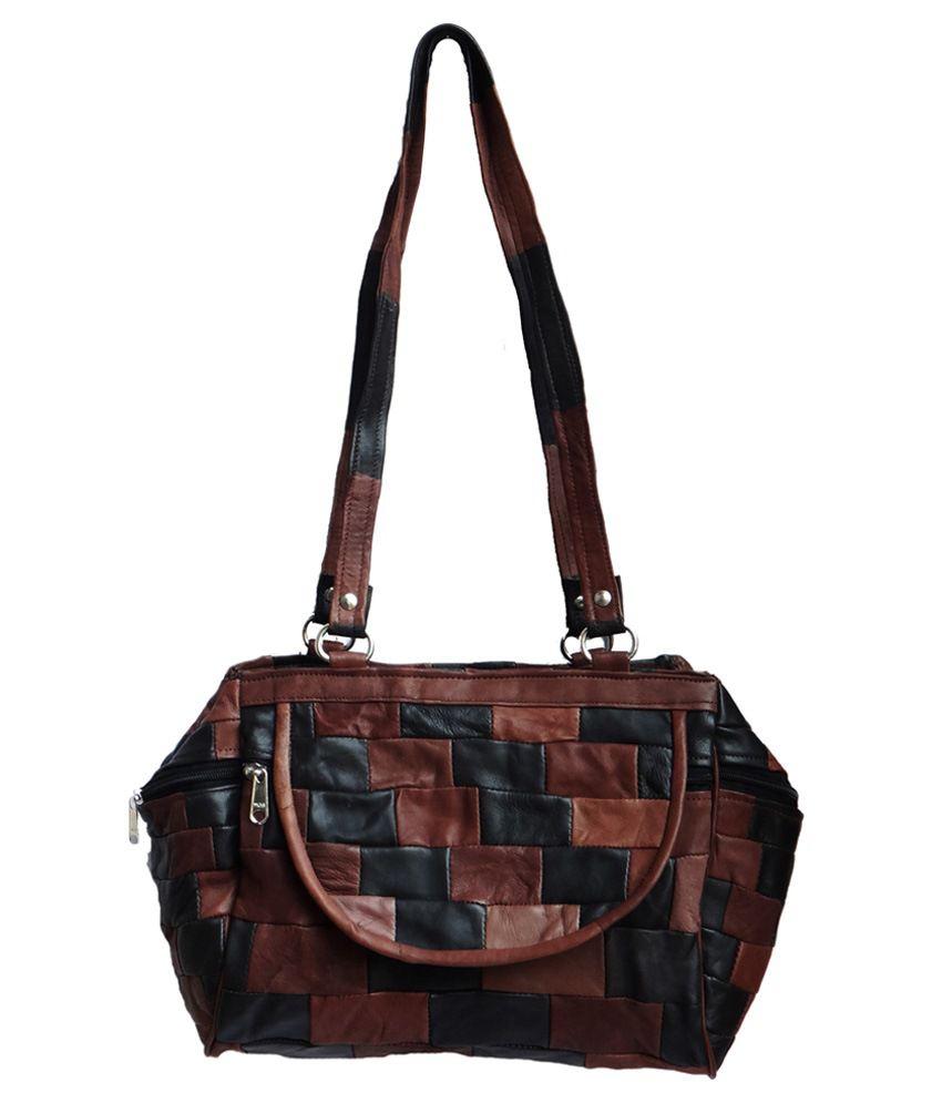 Seher Leather Shoulder Bag-Multicolour