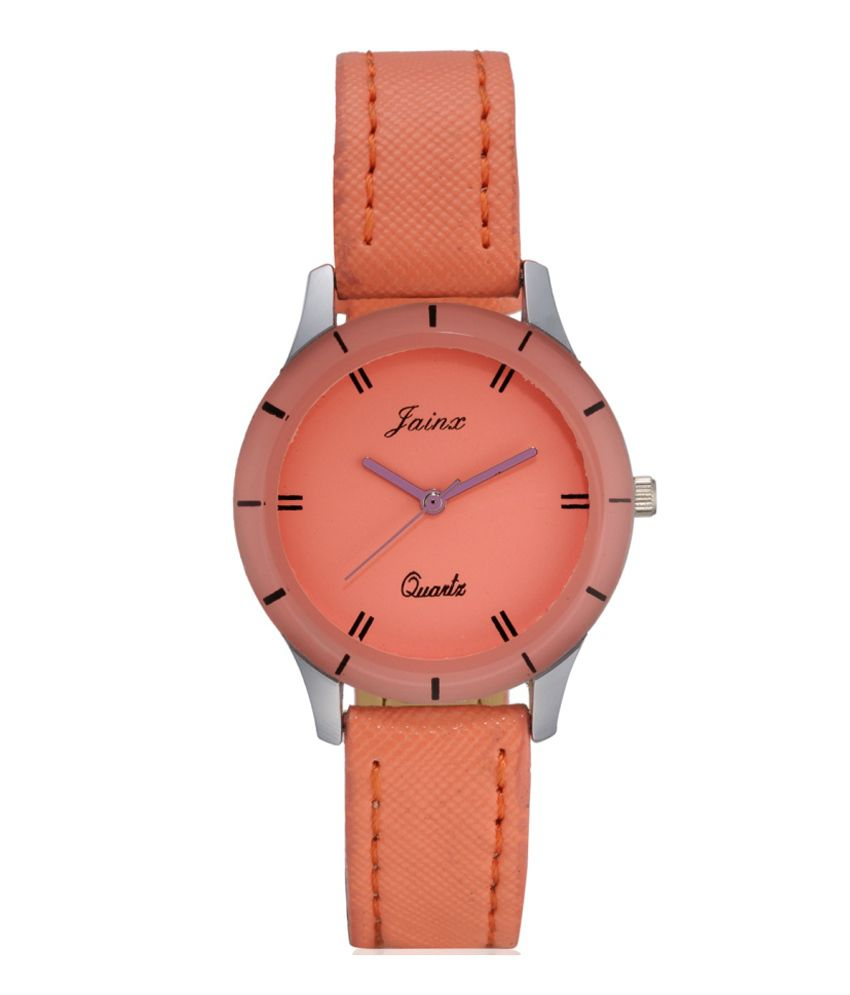 Jainx Orange Analog Round Watch