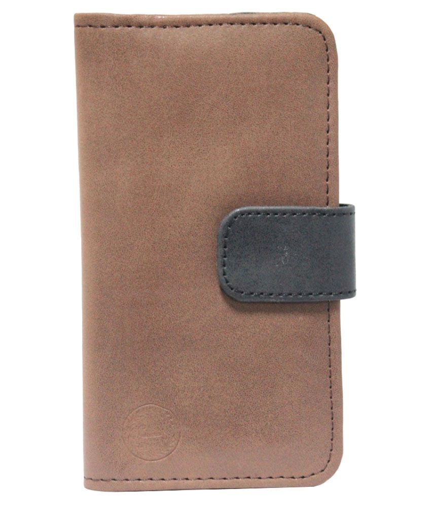 Jo Jo Flip Cover for Sony Xperia M Dual - Brown