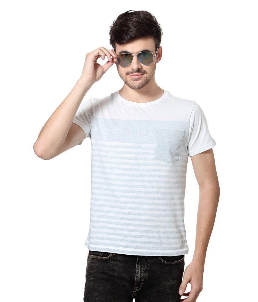 Allen Solly Grey Cotton Round Neck T-shirt