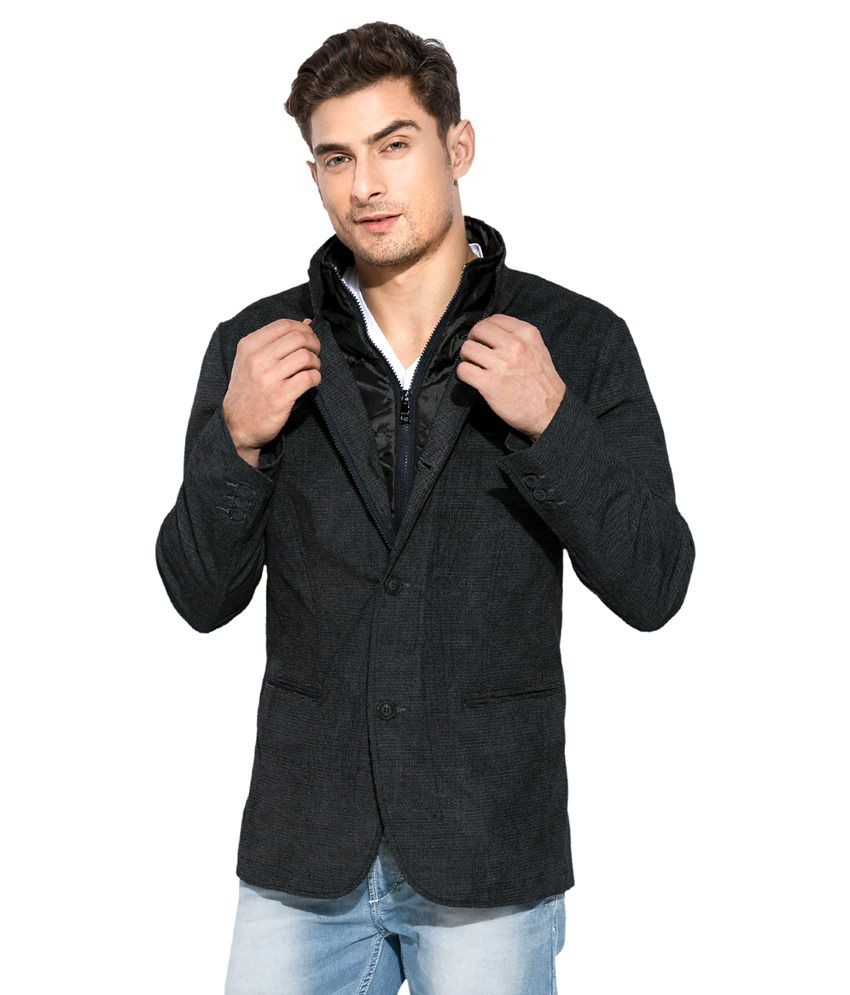 Mufti Black Casual Blazer - Buy Mufti Black Casual Blazer Online At Best Prices In India On Snapdeal