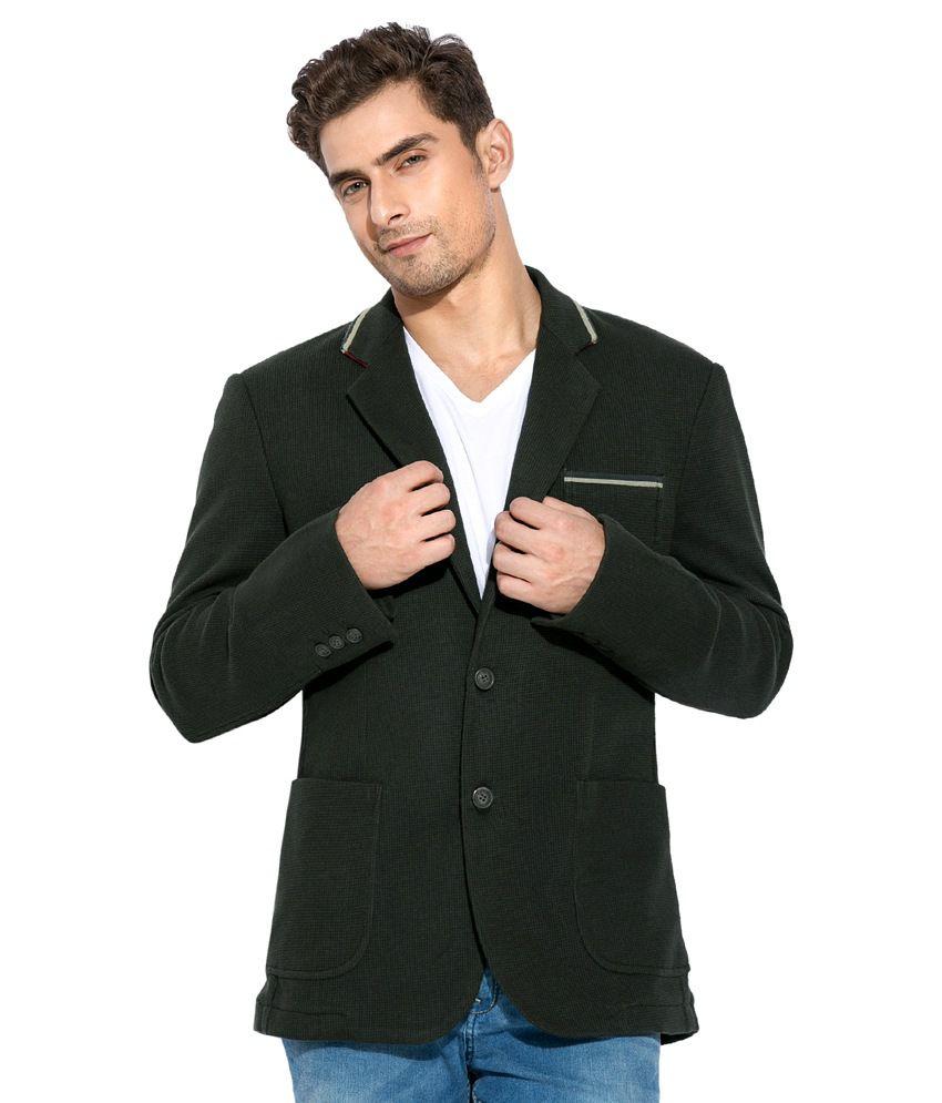 Mufti Green Casual Blazer