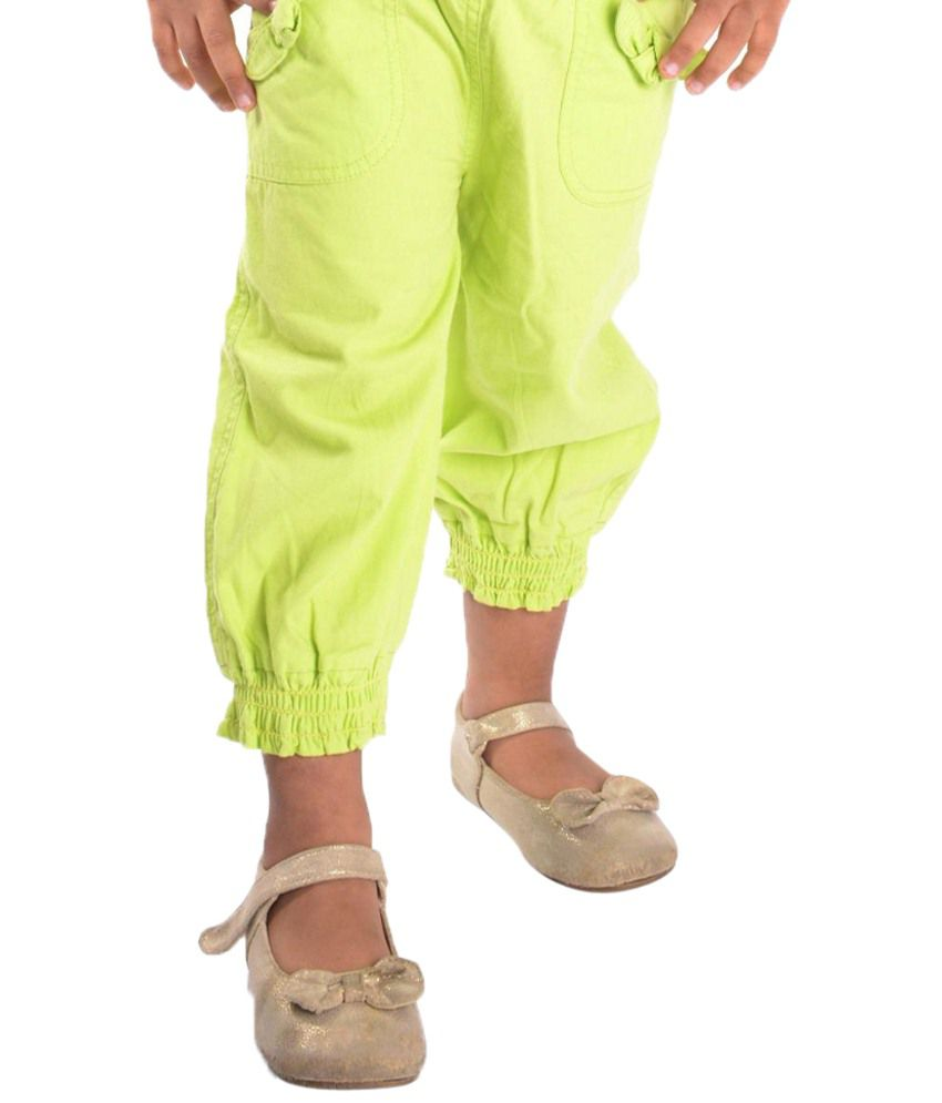 Oye Green Capris for Girls