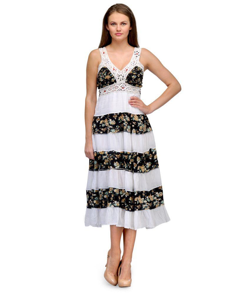 Passion By Pragya White Cotton Dresses