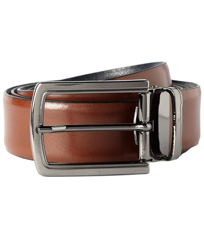 Peter England Brown Formal Reversible Belt