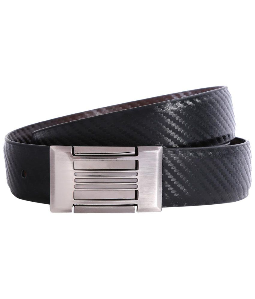 Bluth Black Formal Belt for Men
