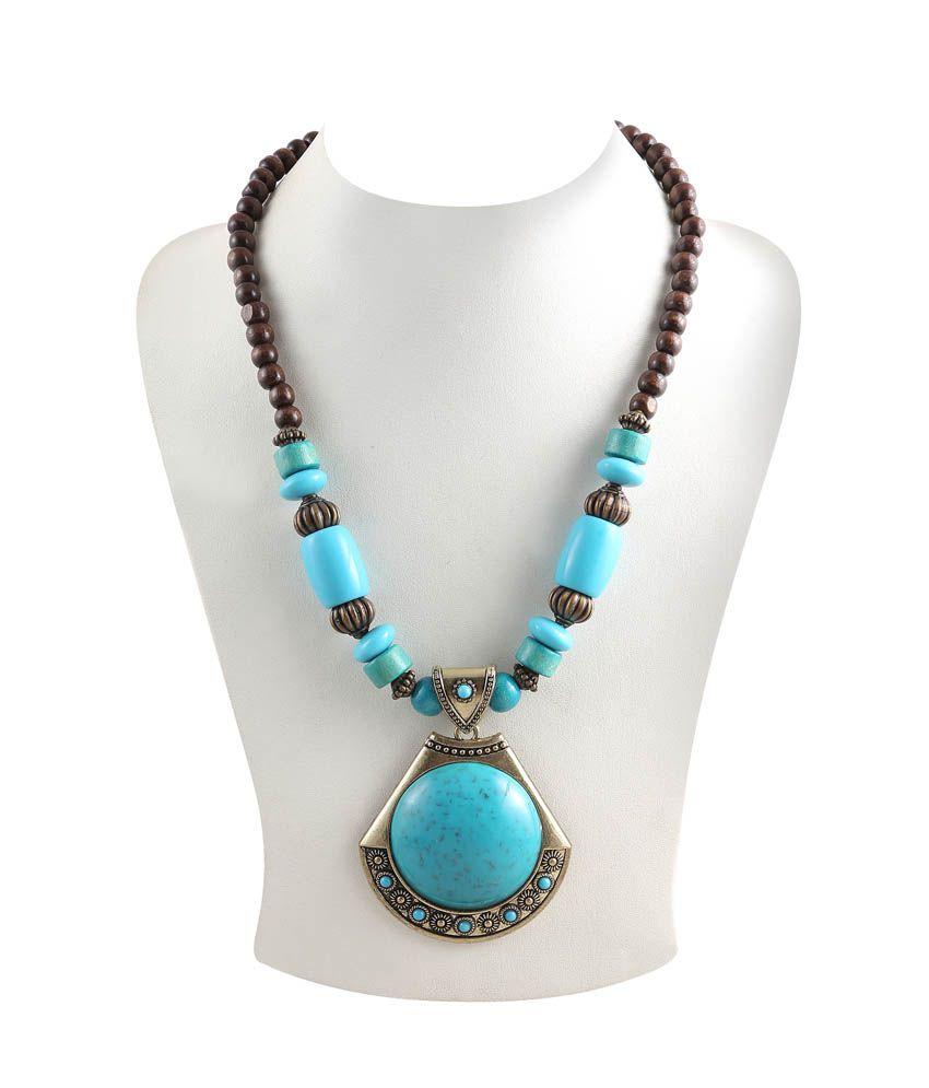 Jadoo Collection Blue Antique Necklace