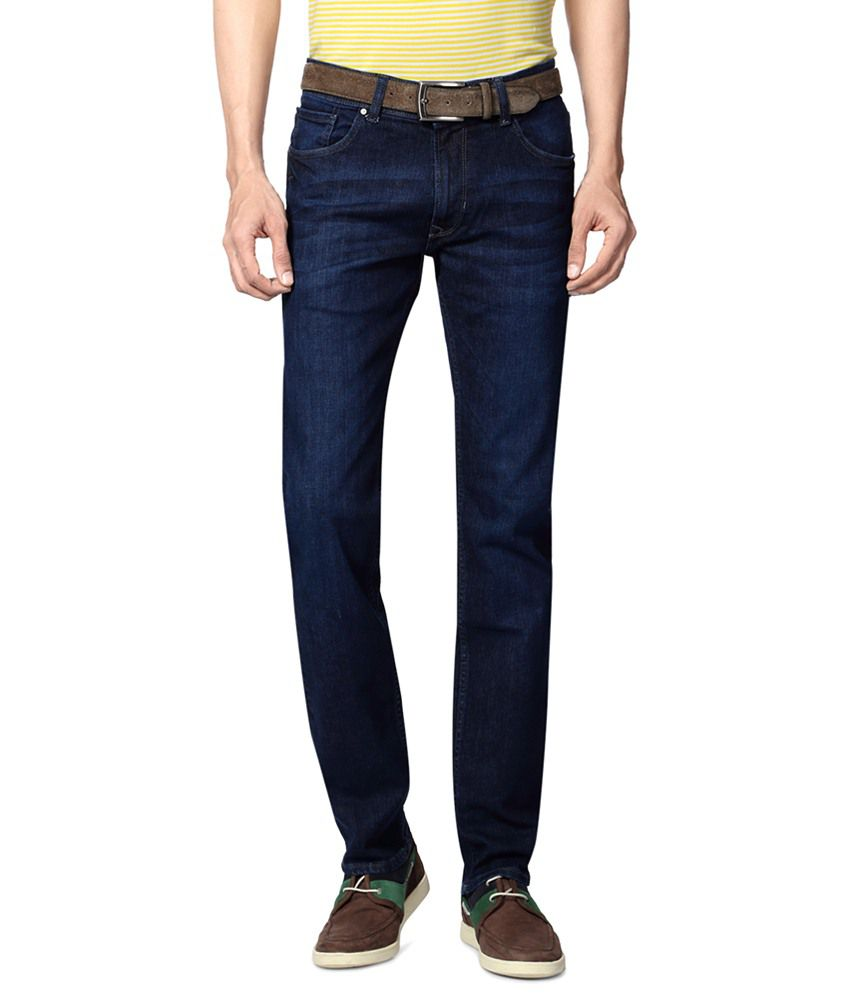 Peter England Blue Party Wear Jeans