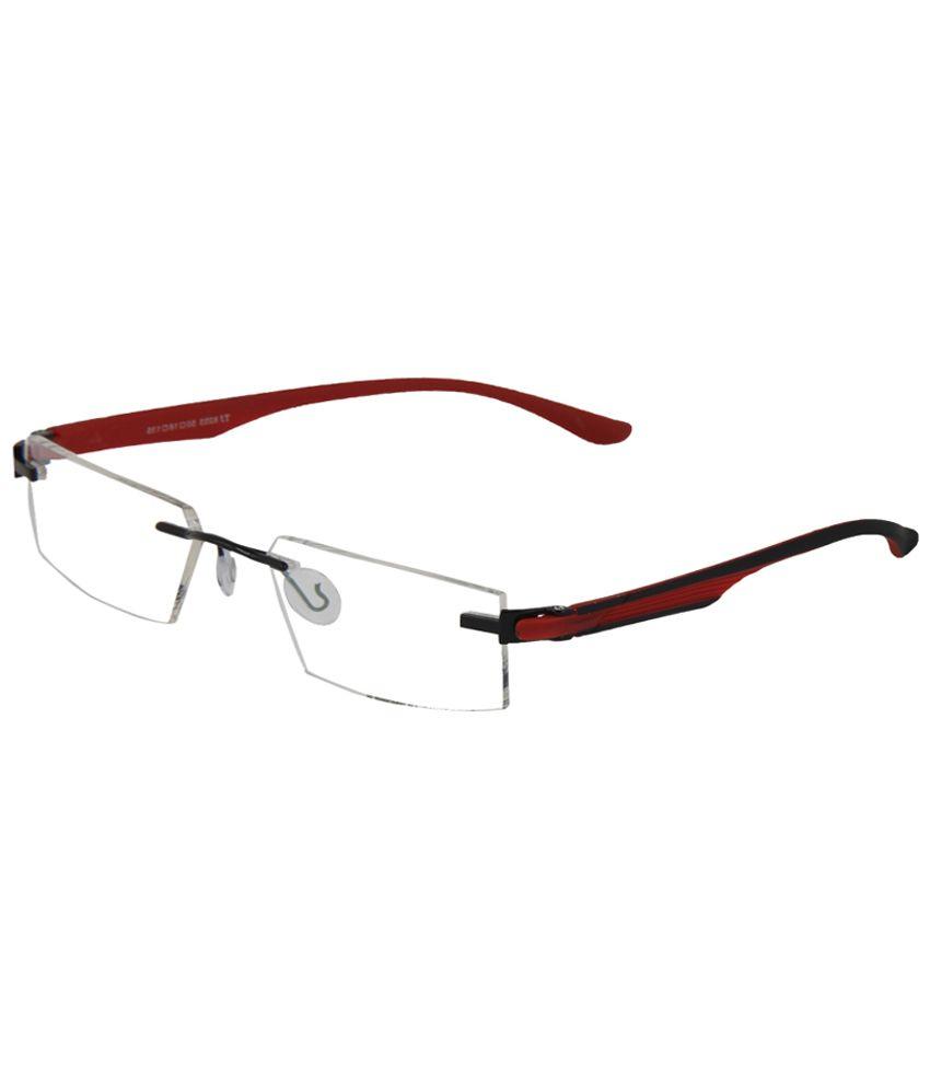 ada918ba5f2 Zyaden Black Nylone Rectangle Rimless Eyewear Frame For Men - Buy Zyaden  Black Nylone Rectangle Rimless Eyewear Frame For Men Online at Low Price -  Snapdeal