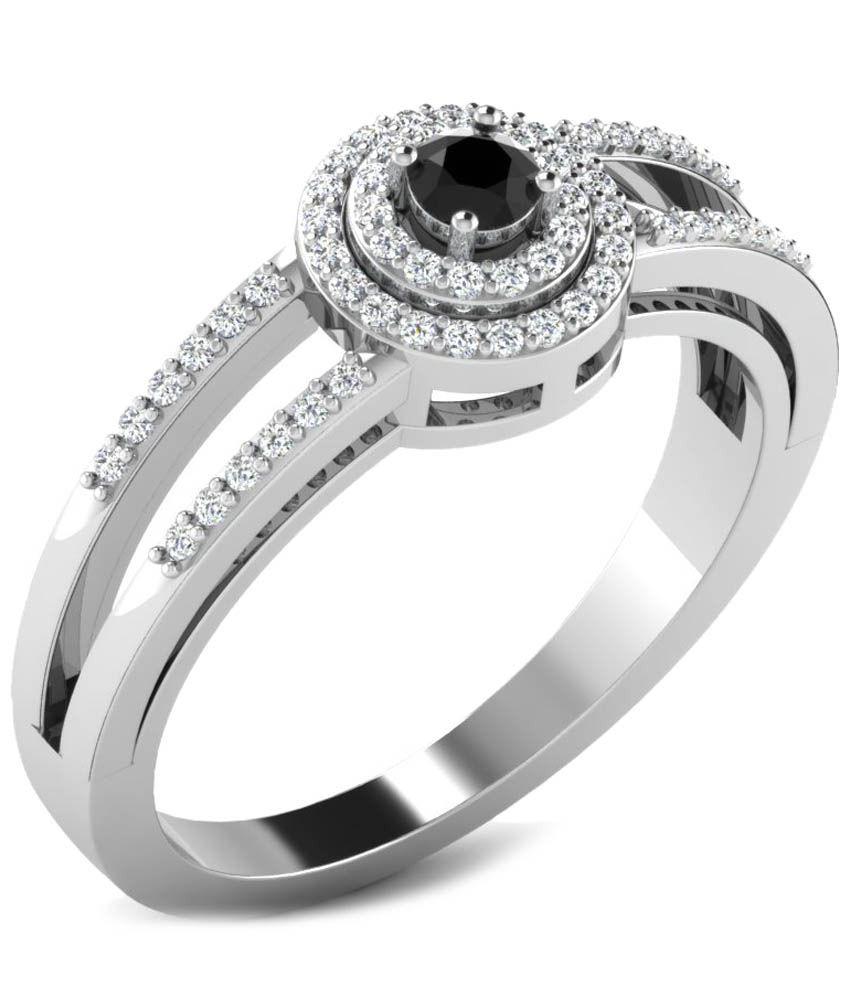 Fullcutdiamond 18 Kt White Gold & 0.3 Ct Diamond Contemporary Ring for Women