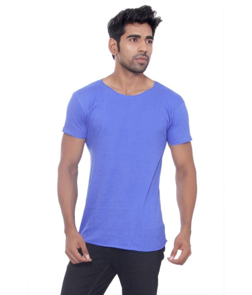 Pezzava Blue Cotton Blend T-shirt