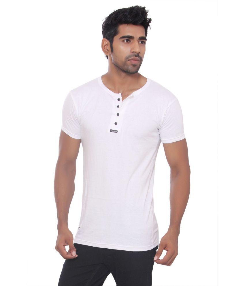 Pezzava White Cotton Blend T-shirt