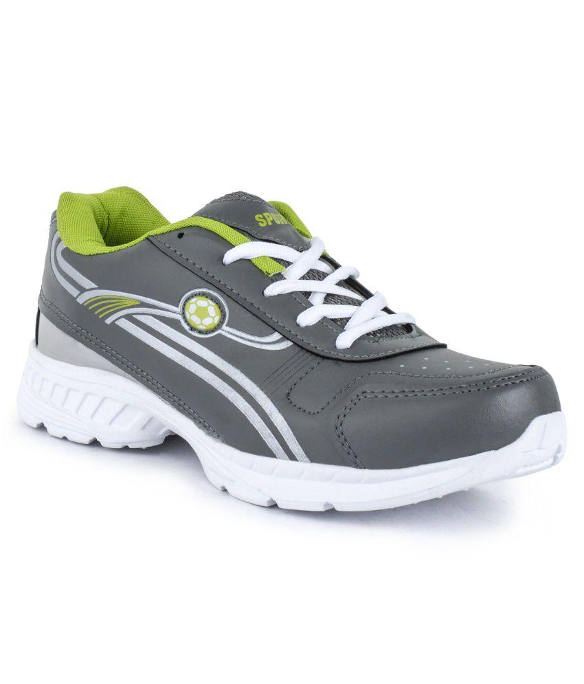 Kailash Enterprises Gray Mesh Sport Shoes