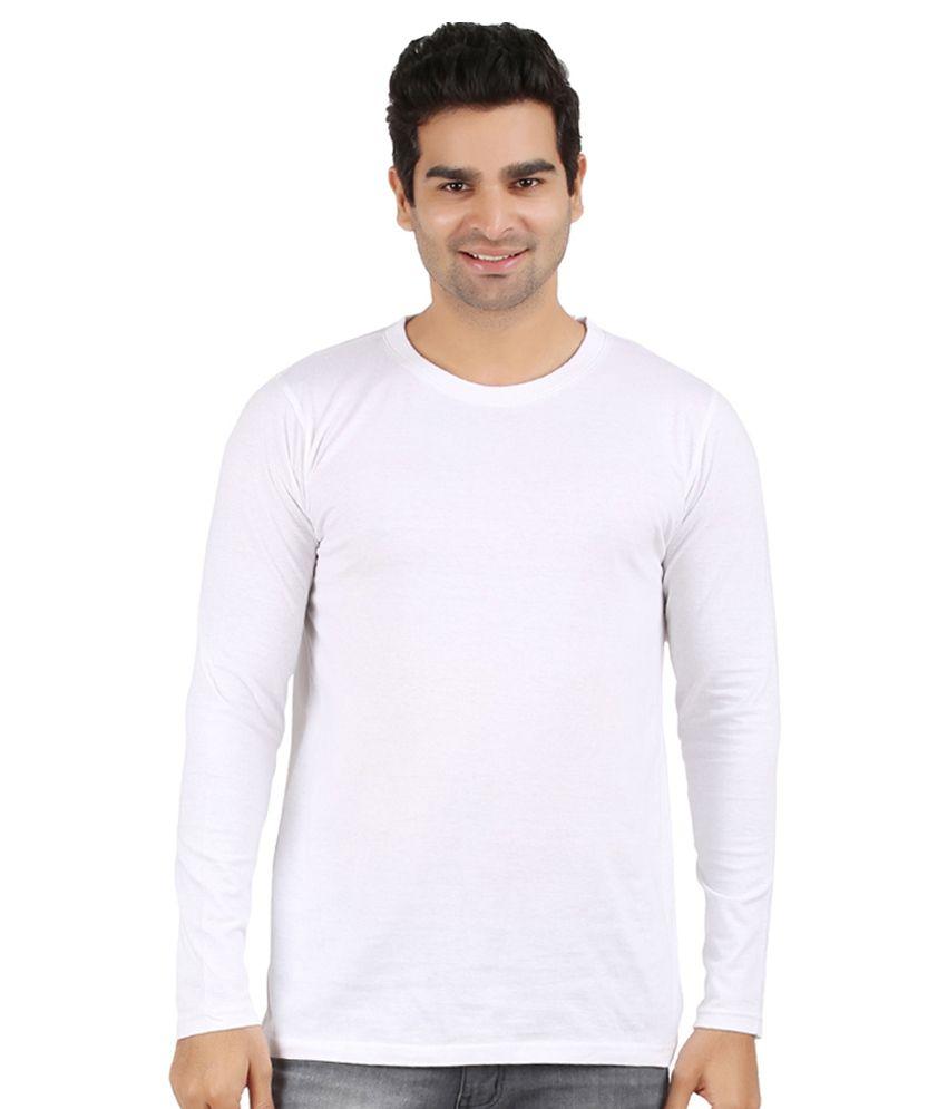 Ap'pulse White Cotton T-shirt