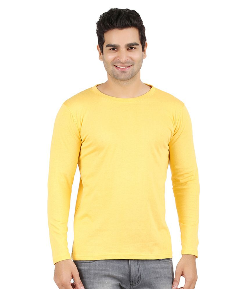 Ap'pulse Yellow Cotton T-shirt
