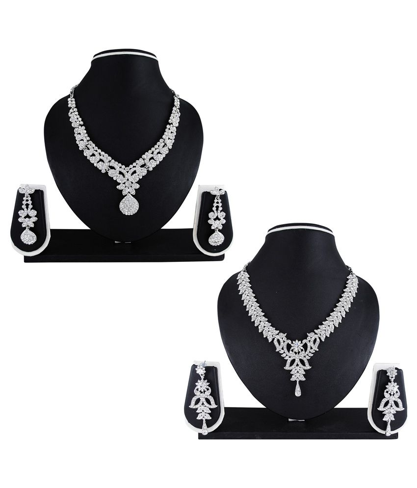 Atasi International Silver Necklace Set- Set of 2