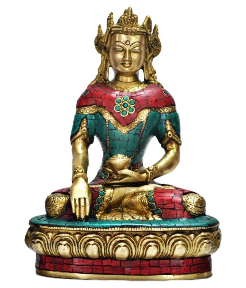 Collectible India Brass Religious Devi Tara Buddha Statue