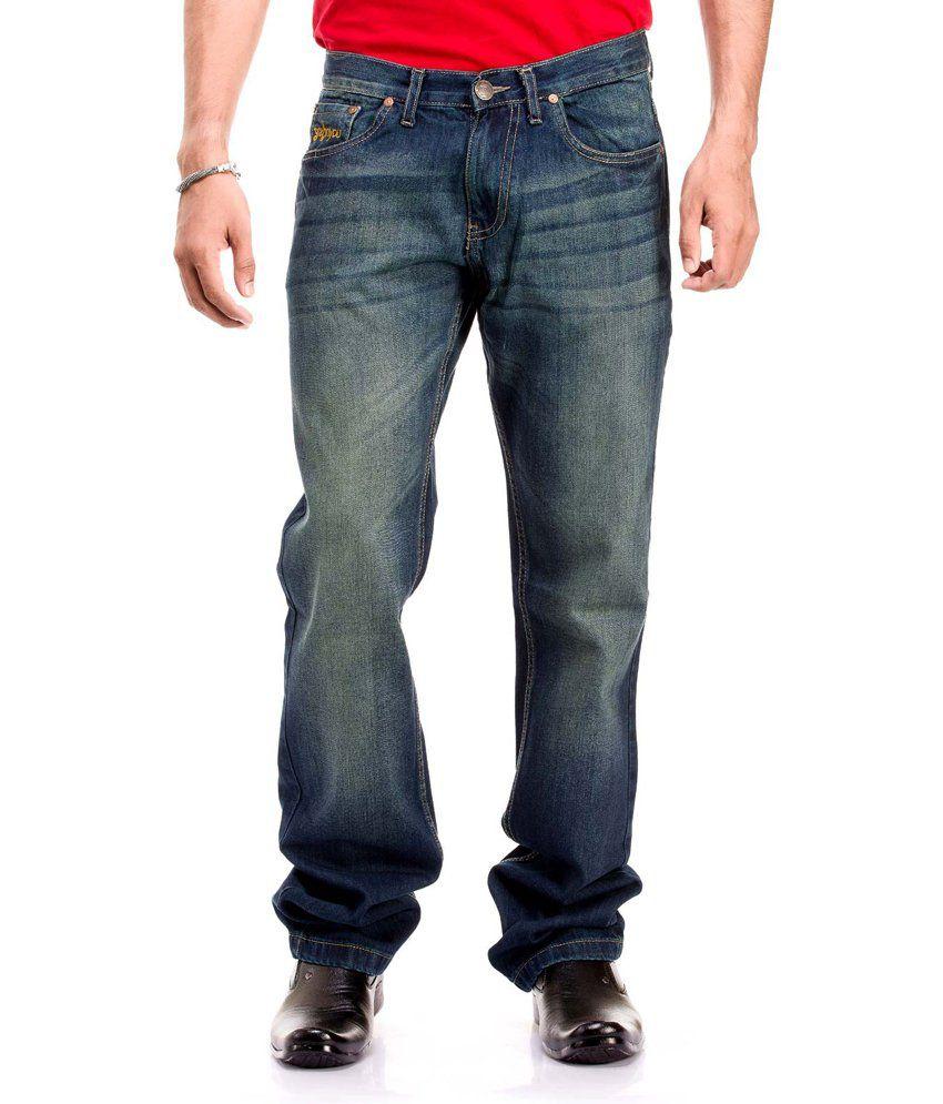 Gr8onyou Slim Fit Medium Wash Green Jeans