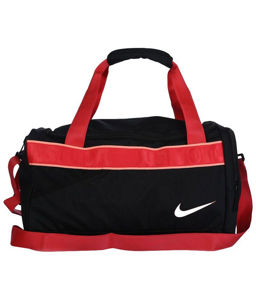 Nike Black & Red Maleta Versity Para Dama for Women Gym Bag