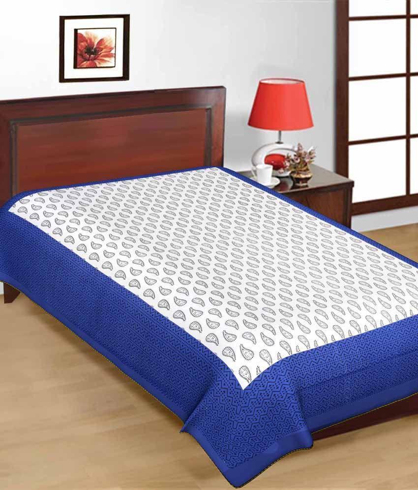 ... UniqChoice Jaipuri Traditional Print Cotton Three Single Bed Sheet  Combo ...