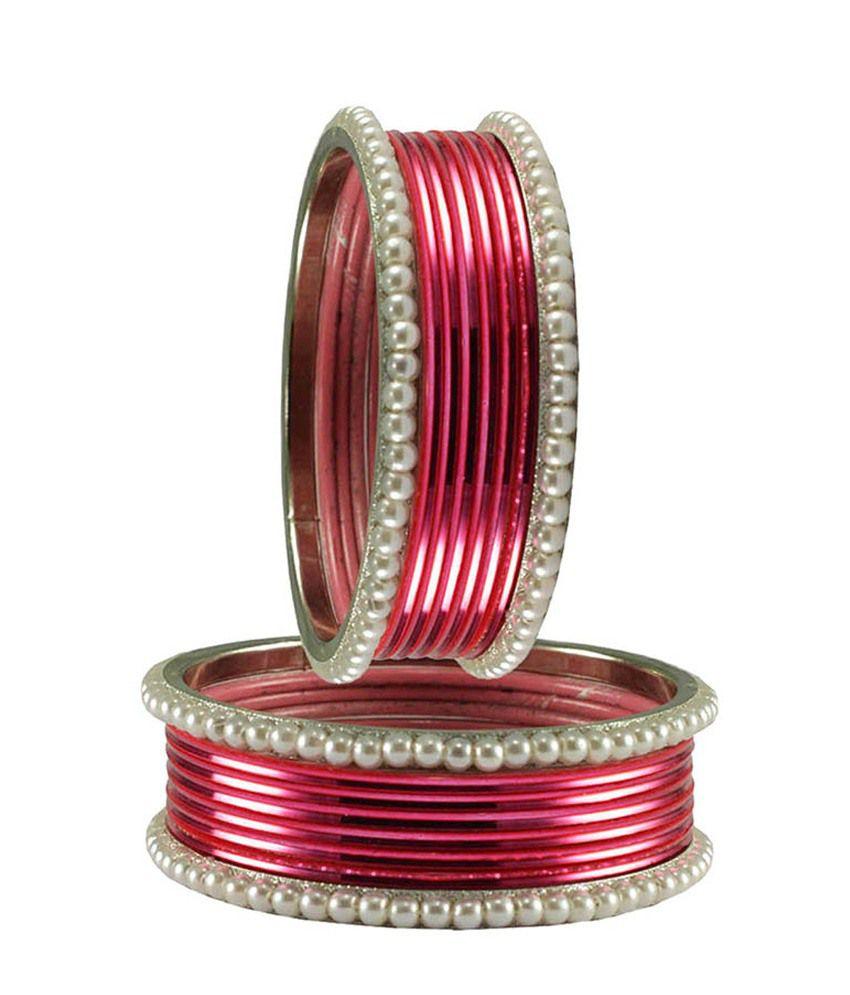 Vidhya Kangan Pink Brass Bangles