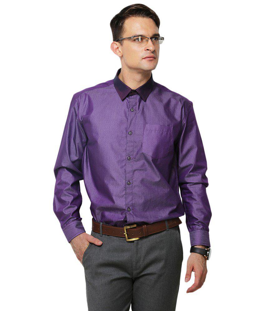 Yepme Purple Schaffer Solid Party Wear Shirt for Men - Buy Yepme ...