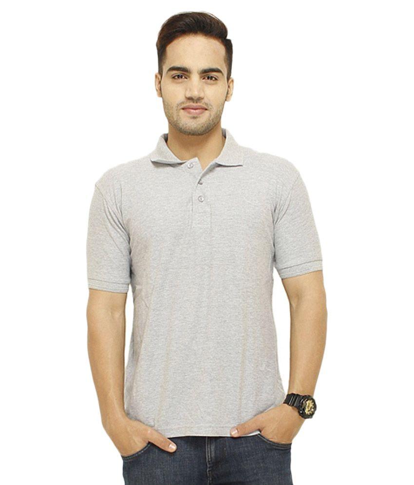 Rh grey half sleeves basic wear polo t shirt buy rh grey for Full sleeve polo t shirts