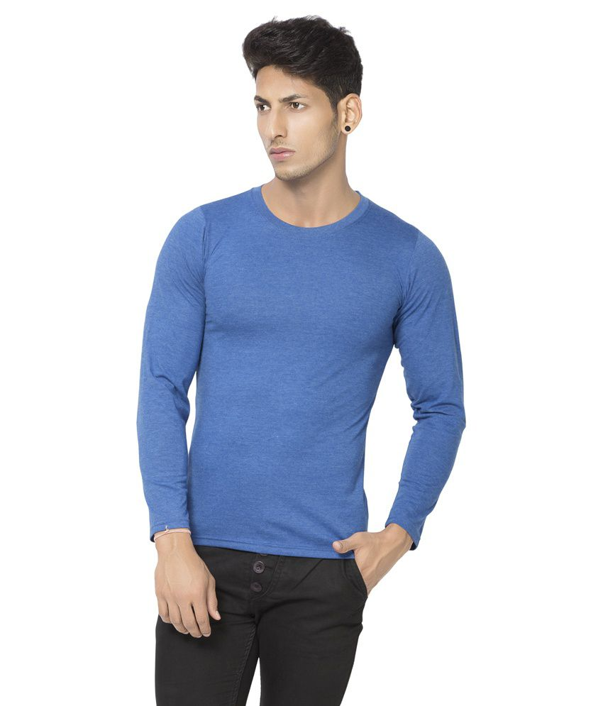 Alan Jones Light Blue Basic Round Full Cotton Tshirt
