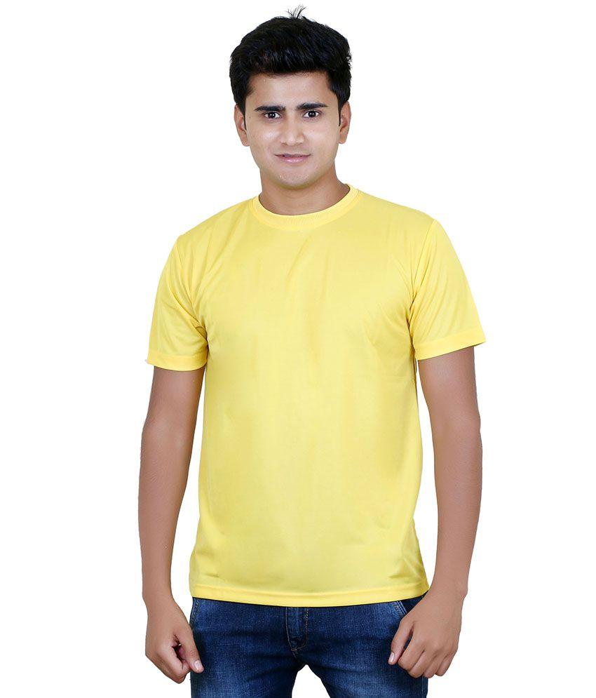 Aqa Yellow Polyester T Shirt
