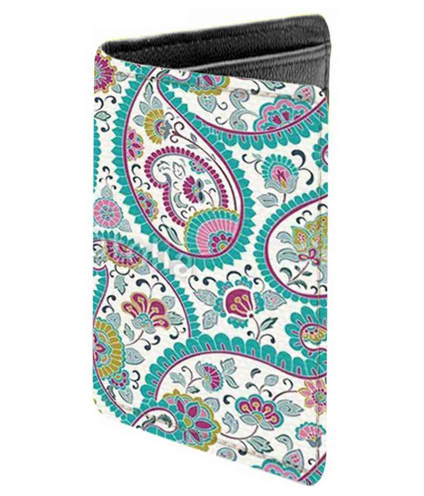 Aurra Multicolor Leather Regular Wallet