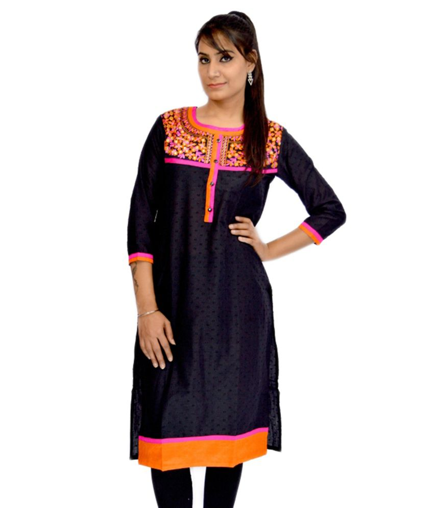 Bpt Black Cotton Kurti