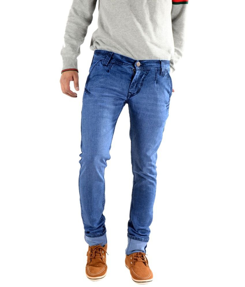 K' Lives Blue Regular Fit Jeans