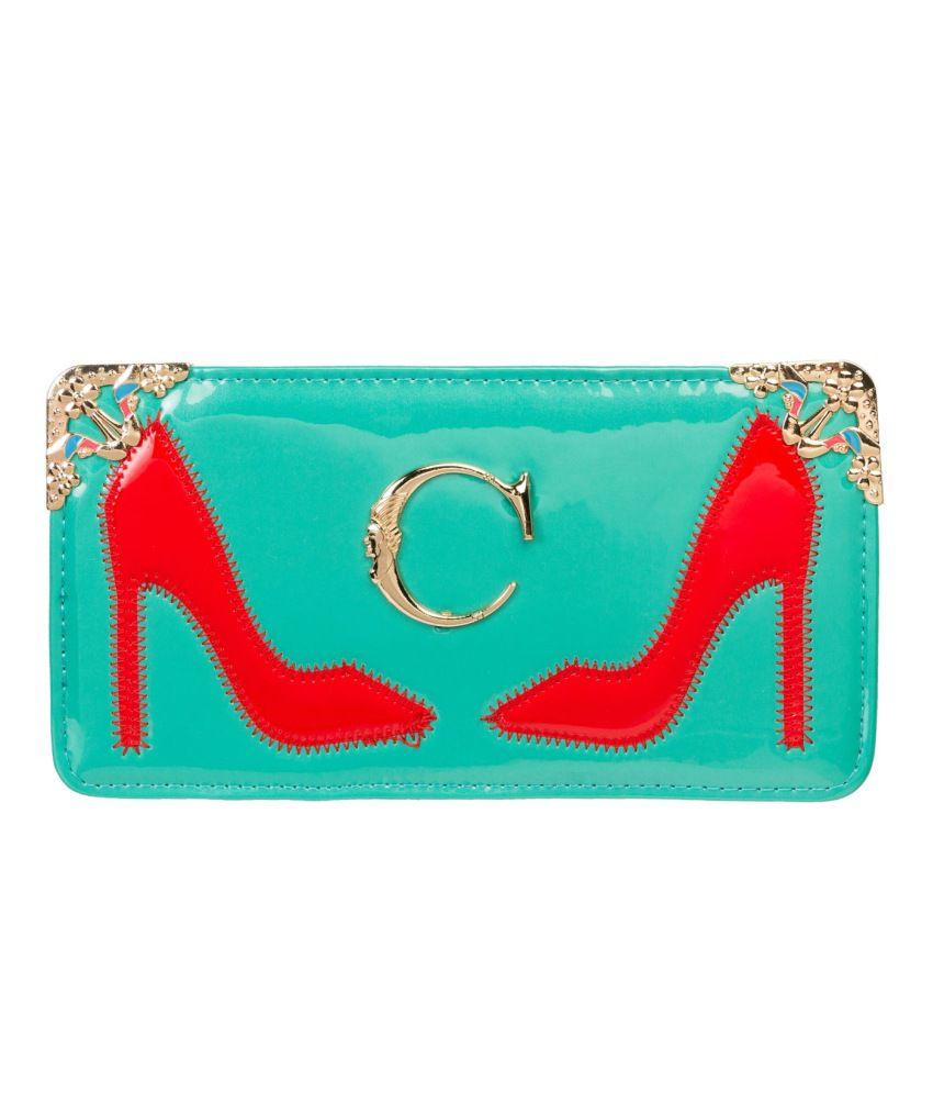Louise Belgium Non Leather Green Women Regular Wallet