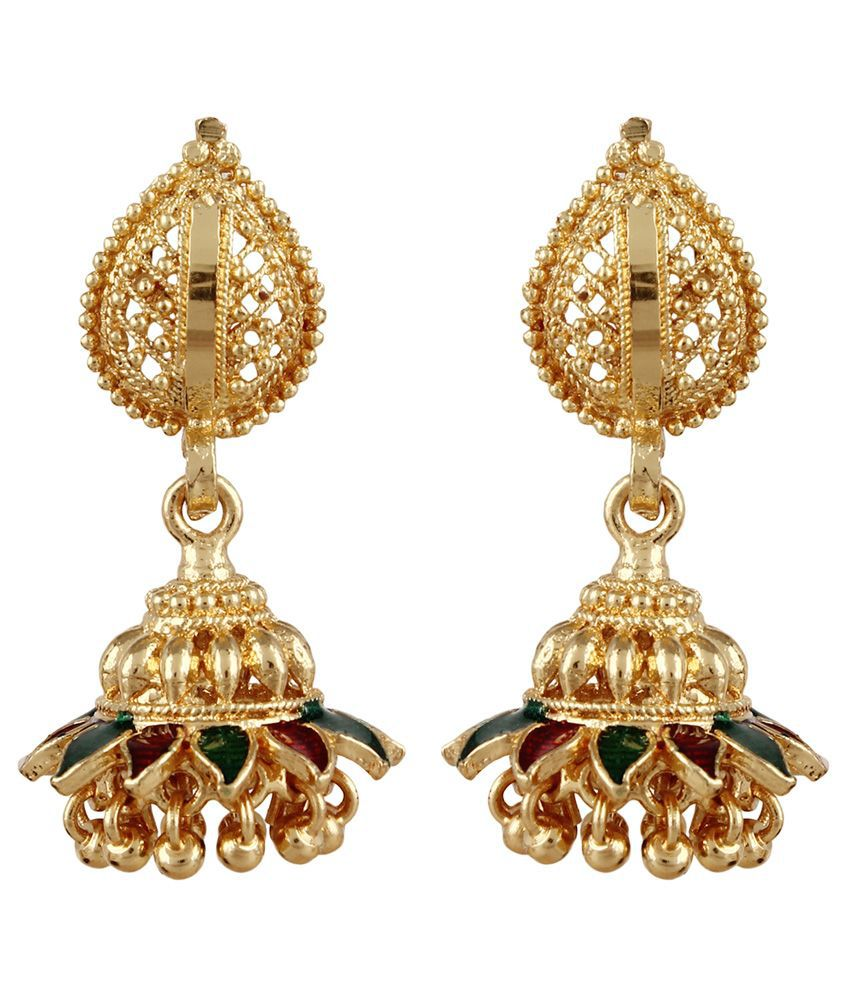 Dee Gee Golden Copper Jhumkis