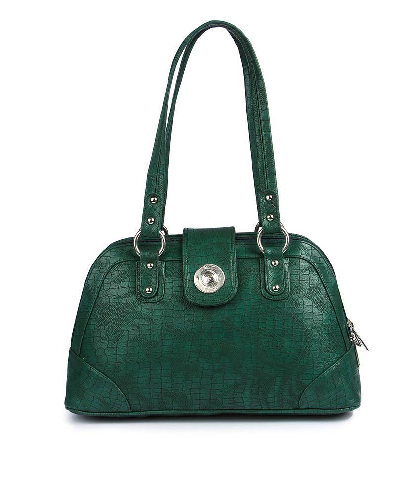 Classic Green Shoulder Bag