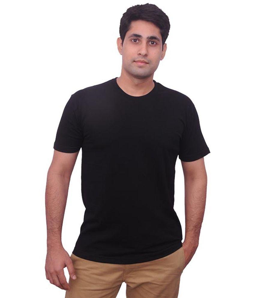 Kc Knits Black Cotton Blend T - Shirt Pack Of 4