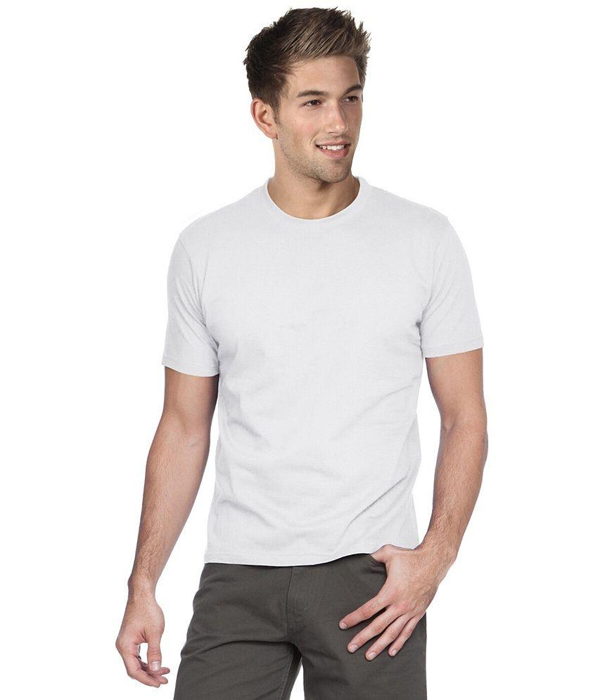 Kc Knits White Cotton Blend T - Shirt Pack Of 4