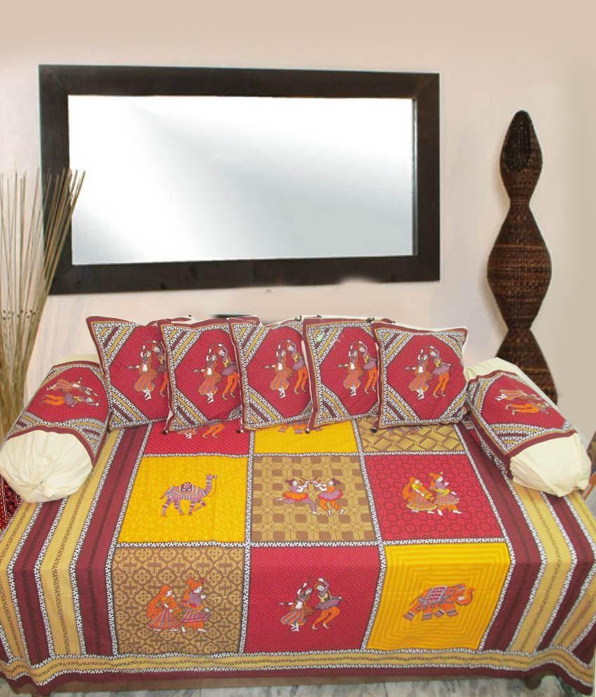 Mable Contemporary Cotton Diwan Set