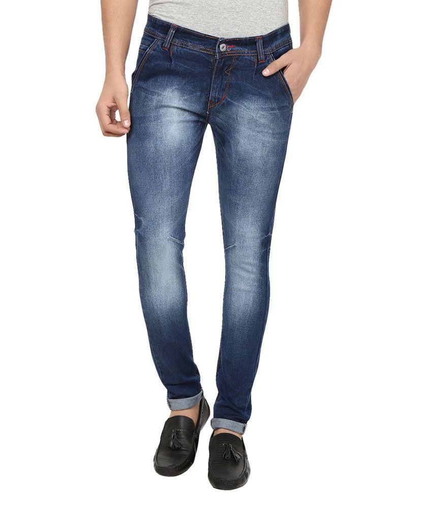 Adroit Blue Cotton Blend Jeans