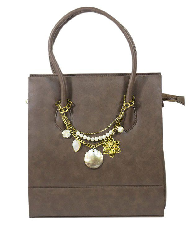 Glitter Glory Brown Shoulder Bag