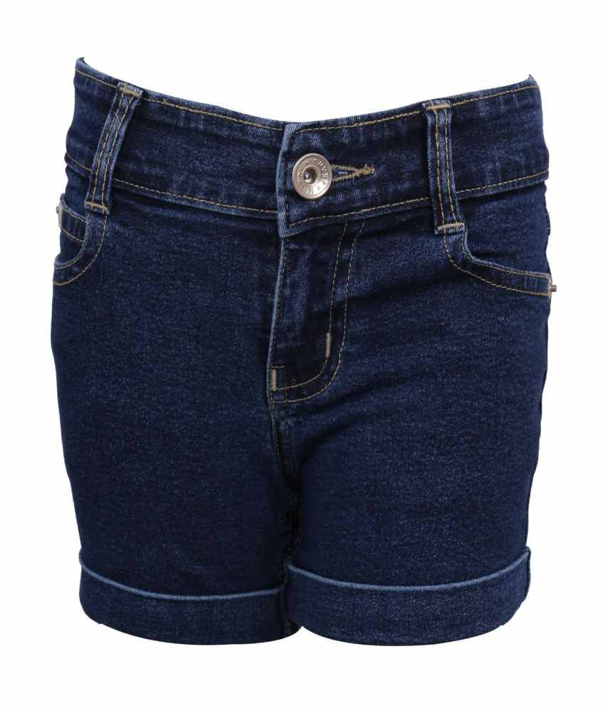 Miloni Blue Shorts For Girls