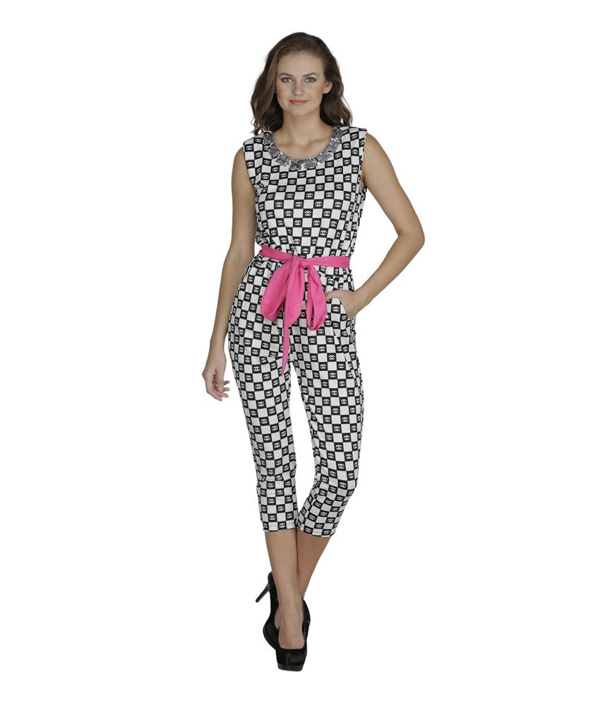 SVT ADA Collections Black Poly Viscose Jumpsuits