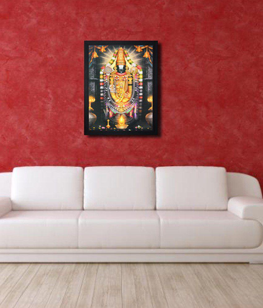 Saf Black Wooden Special Effect Tirupati Painting