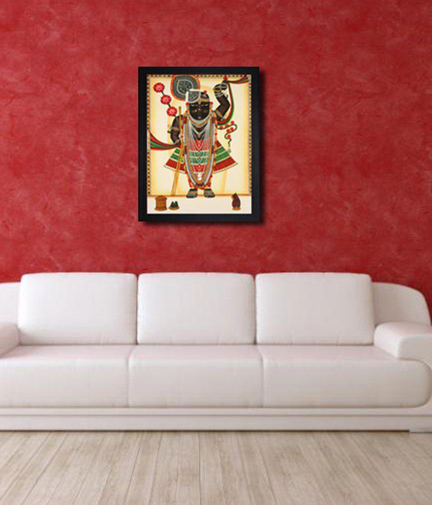 Saf Black Wooden Special Effect Shri Nath Ji Painting