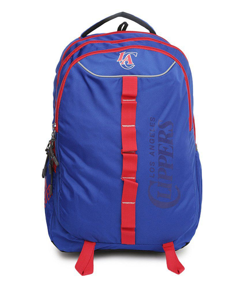 American Tourister Blue Polyester Backpack Buy American