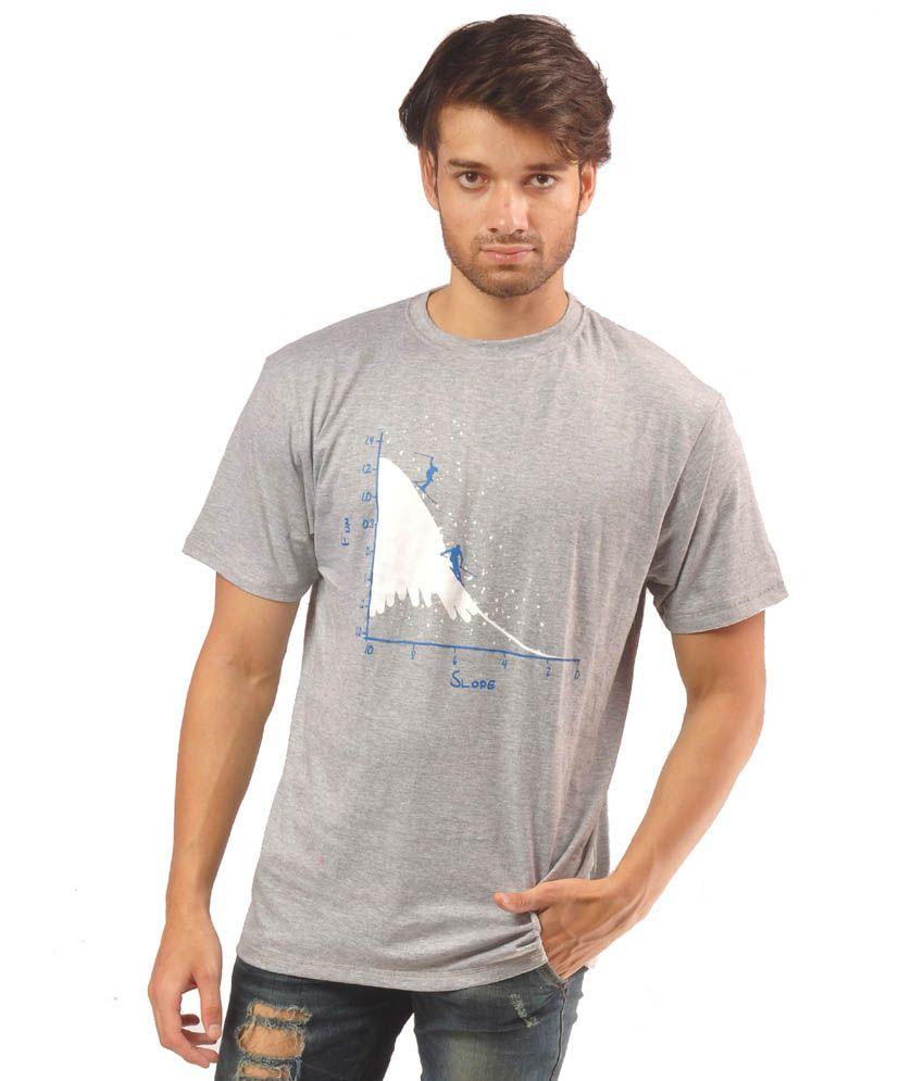 Helix Grey Cotton T-Shirt