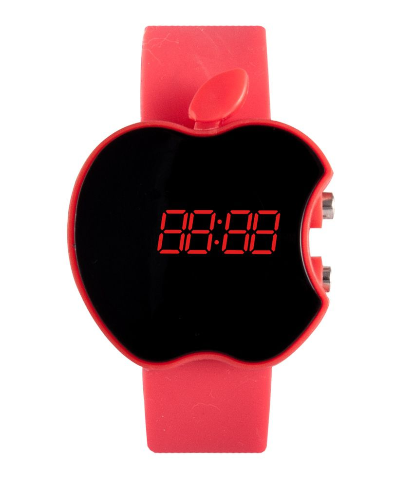 Iwmart Red Casual Digital Watch For Kids