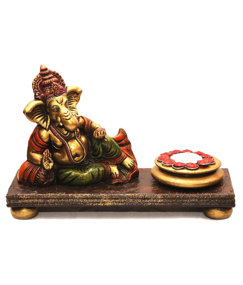 Sukriti Art Gallery Wooden Ganesha Showpiece